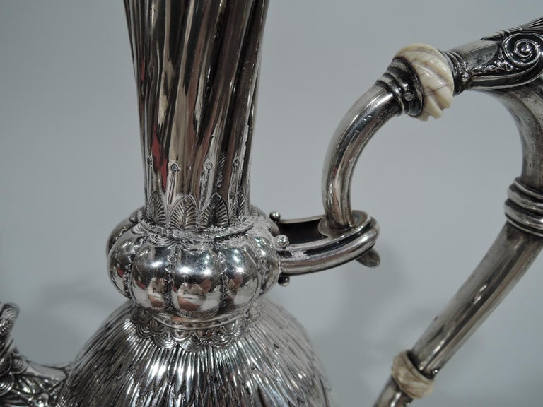 Wonderful Exotic Sterling Silver Turkish Coffeepot by Gorham In Good Condition For Sale In New York, NY
