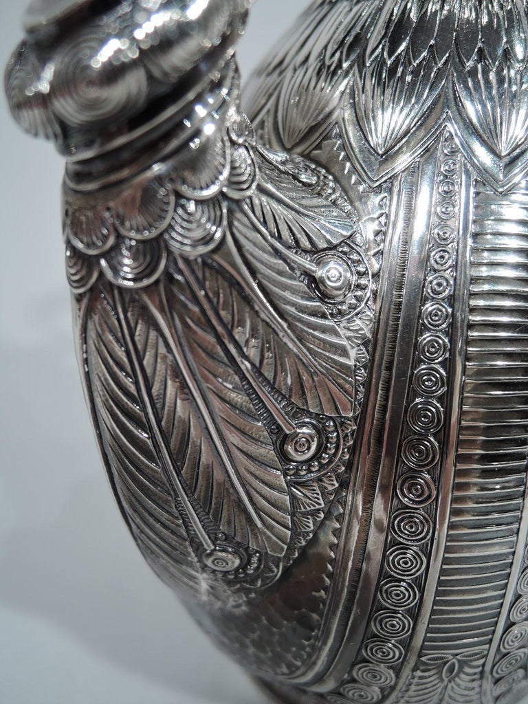 Wonderful Exotic Sterling Silver Turkish Coffeepot by Gorham For Sale 1