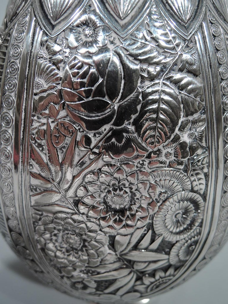 Wonderful Exotic Sterling Silver Turkish Coffeepot by Gorham For Sale 3