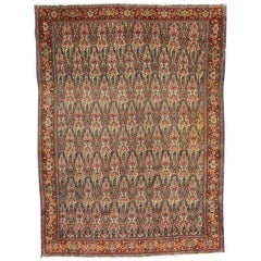 Wonderful Fine Antique Kurdish Senneh Rug