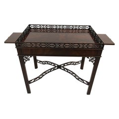 Wonderful Flame Mahogany Chippendale Style Side Table