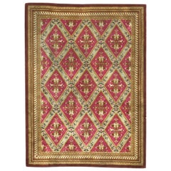 Wonderful French Aubusson Knotted Rug