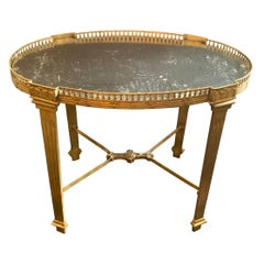 Wonderful French Bronze Maison Baguès Mirrored Gallery Gueridon Cocktail Table