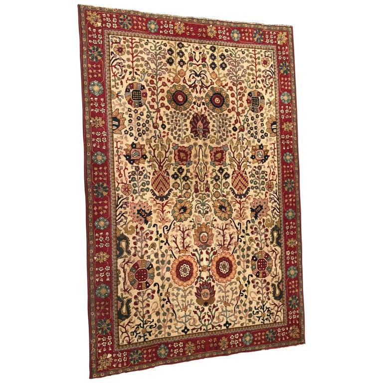 Wonderful French Janus Rug Agra Design For Sale At 1stdibs