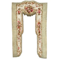 Wonderful French Valance Aubusson Tapestry