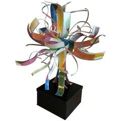 Wonderful Fun Mid-Century Modern Dorothy Gillespie Starburst Metal Art Sculpture
