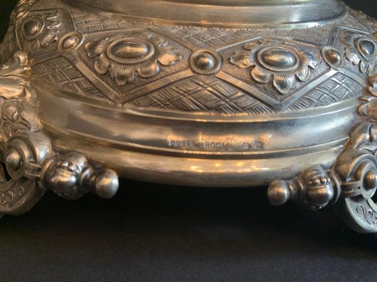 Wonderful German 800 Sterling Silver Cherub Figural Centerpiece Lazarus Posen For Sale 2