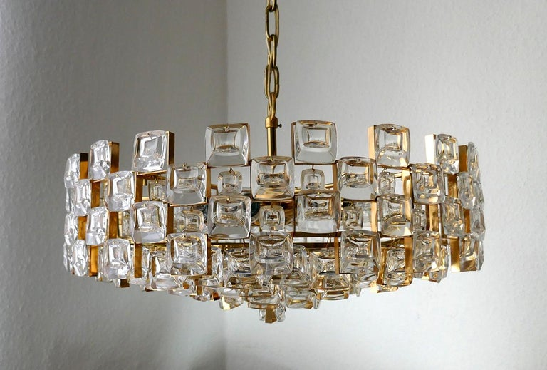 Hollywood Regency Wonderful German Vintage Ceiling Light Chandelier, 1960s For Sale