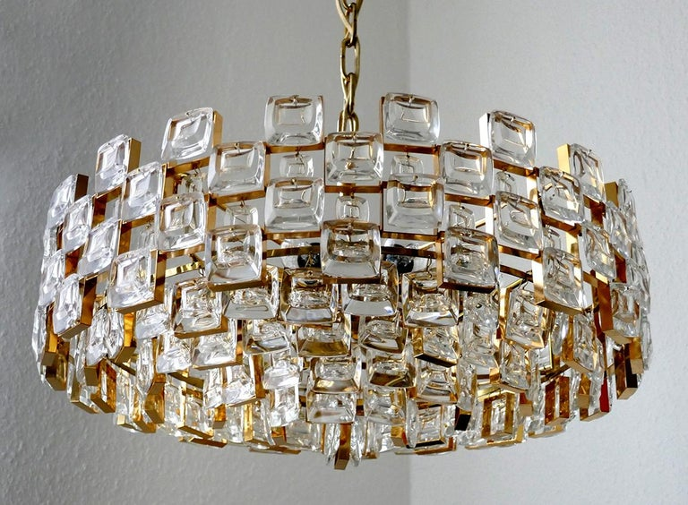Wonderful German Vintage Ceiling Light Chandelier, 1960s In Good Condition For Sale In Berlin, DE