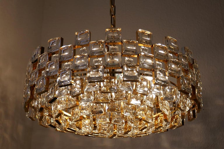 Brass Wonderful German Vintage Ceiling Light Chandelier, 1960s For Sale