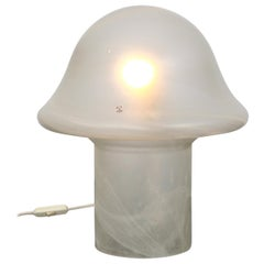 Wonderful Glass Mushroom Table Lamps by Peill & Putzler, Germany, 1970s