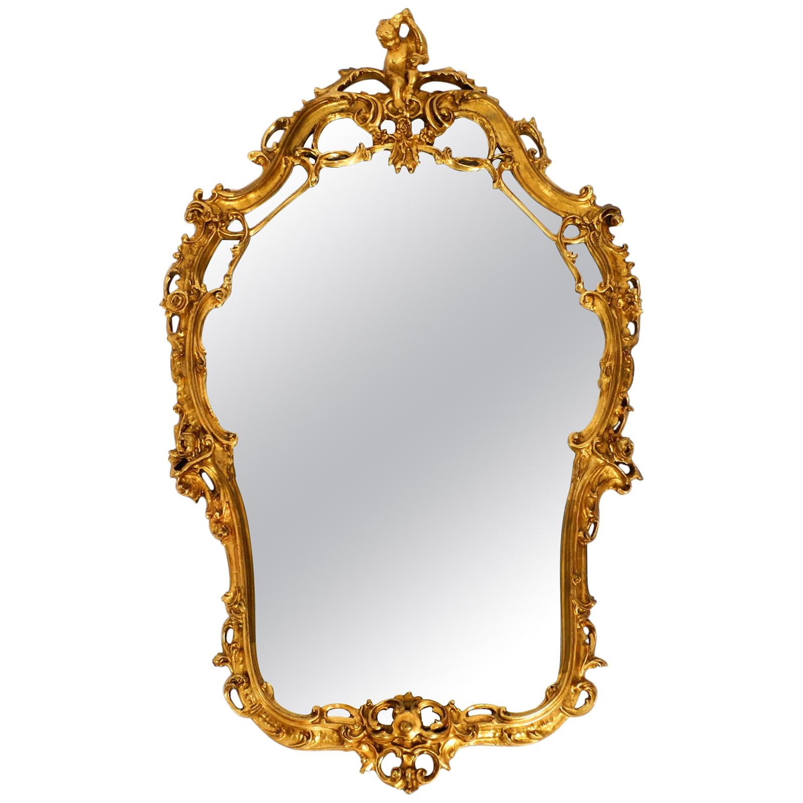 Wonderful Huge Italian Antique Wall Mirror from the 1950s