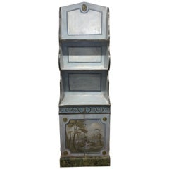 Wonderful Italian Painted 3 Shelf Cabinet with Seascape Scene