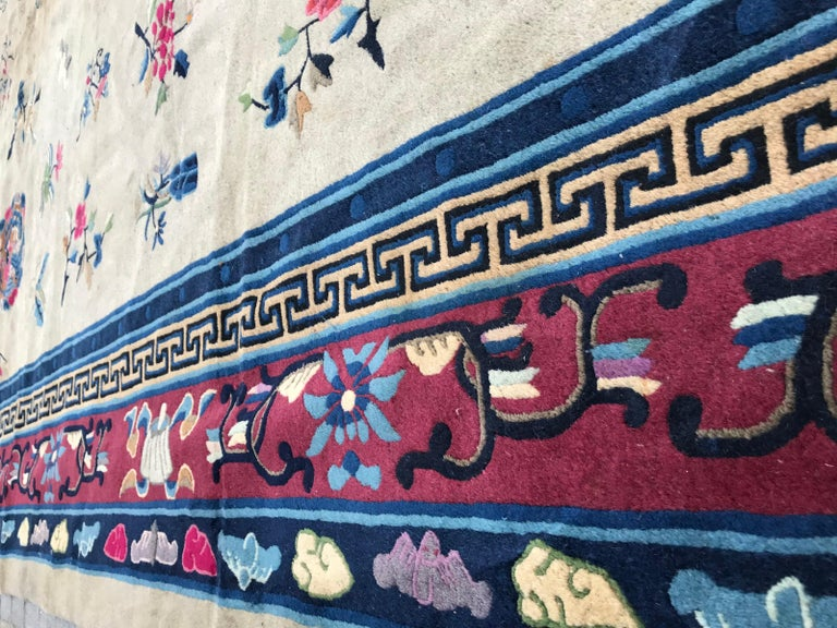 Wonderful Large Antique Chinese Dragon Rug For Sale 3