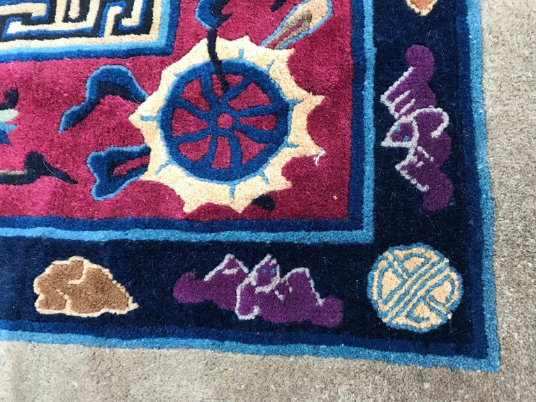 Wonderful Large Antique Chinese Dragon Rug For Sale 1