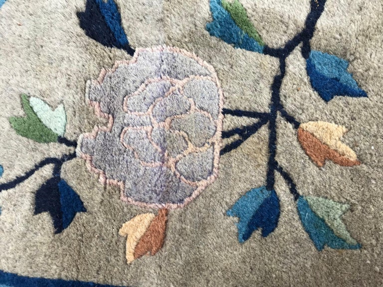 Wonderful Large Antique Chinese Dragon Rug For Sale 2