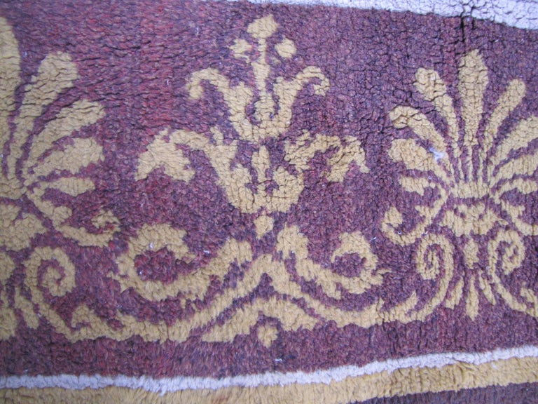 Aubusson Wonderful Large Antique French Savonnerie Carpet For Sale