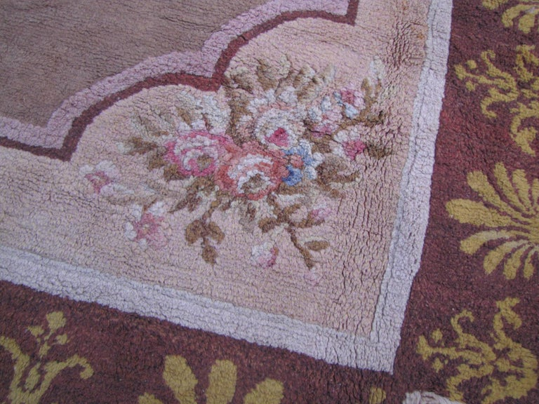 Hand-Knotted Wonderful Large Antique French Savonnerie Carpet For Sale