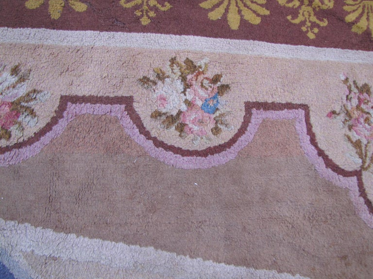 Wonderful Large Antique French Savonnerie Carpet In Good Condition For Sale In Saint Ouen, FR