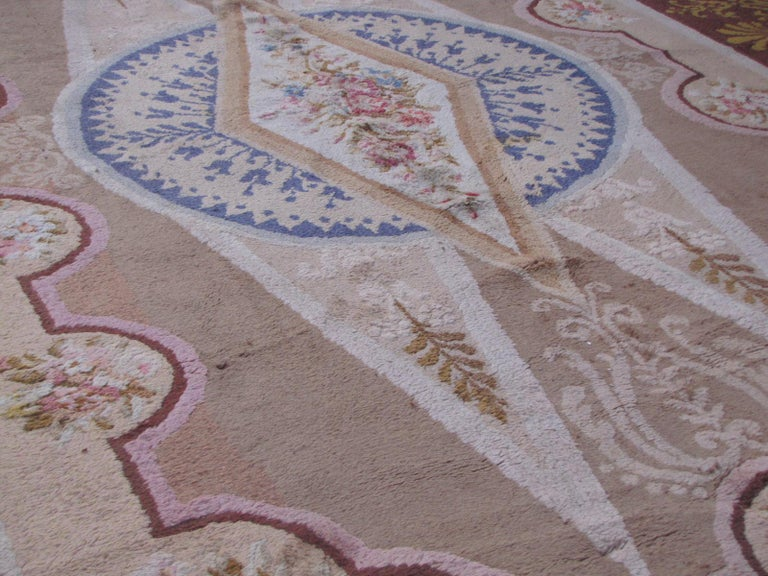 Wonderful Large Antique French Savonnerie Carpet For Sale 1