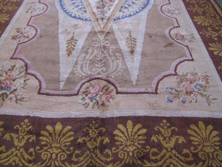 Wonderful Large Antique French Savonnerie Carpet For Sale 2