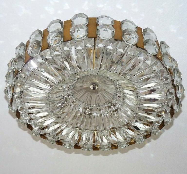 Hollywood Regency Wonderful Large Austrian Vintage Ceiling Light Chandelier, 1960s For Sale