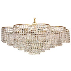 Wonderful Large Crystal Palwa Chandelier, 1960s