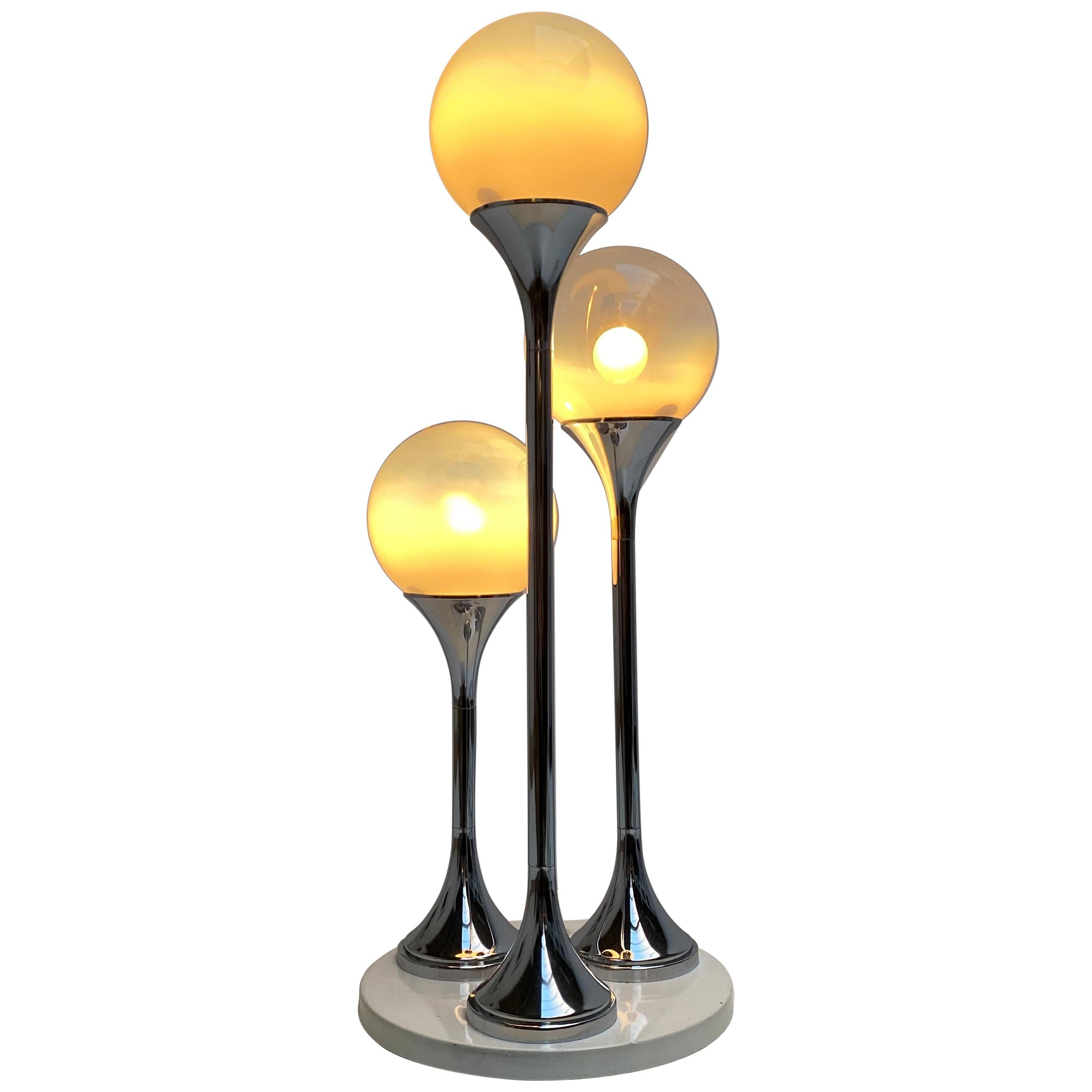 Wonderful Large Space Age Table Lamp by Targetti Sankey, Italy, 1970s