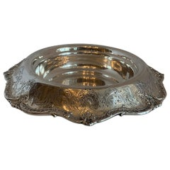 Wonderful Large Sterling Silver Spaulding & Co. Hand Chased Centerpiece Bowl