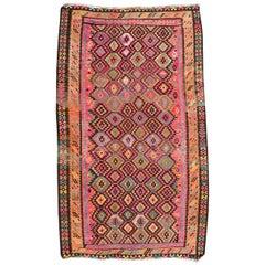 Wonderful Large Vintage Turkish Kilim
