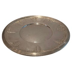 Wonderful Large Wallace Sterling Silver Round Platter Tray in the Mozart Pattern