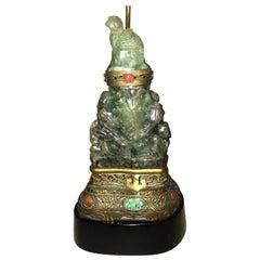 Wunderbare späte 19. / frühes 20. Jahrhundert Jade Lampe