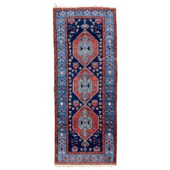 Wonderful Long Antique Kurdish Rug