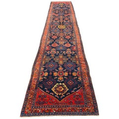 Wonderful Long Antique Malayer Runner