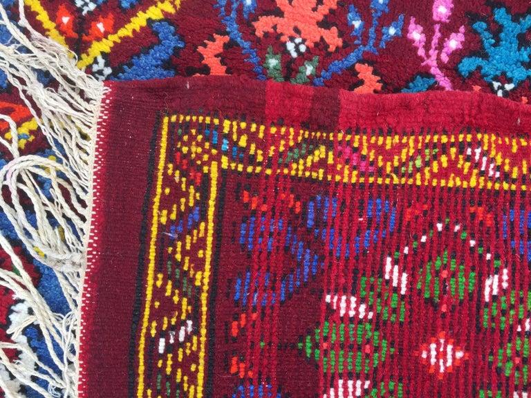 20th Century Wonderful Long Vintage Moroccan Rabat Rug For Sale