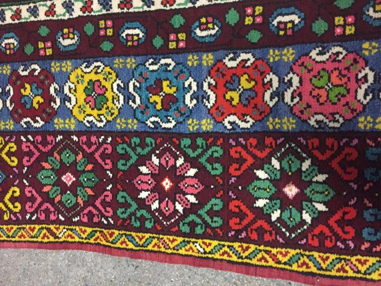 Wonderful Long Vintage Moroccan Rabat Rug For Sale 2