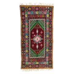 Wonderful Long Vintage Moroccan Rabat Rug