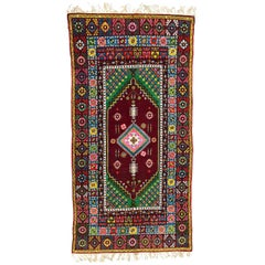 Wonderful Long Vintage Moroccan Rabat Rug