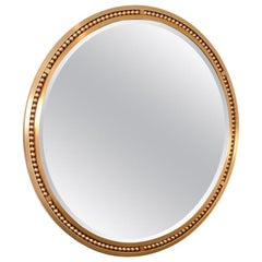 Wonderful Lorin Marsh Brushed Satin Steel Ball Insert Large Round Beveled Mirror