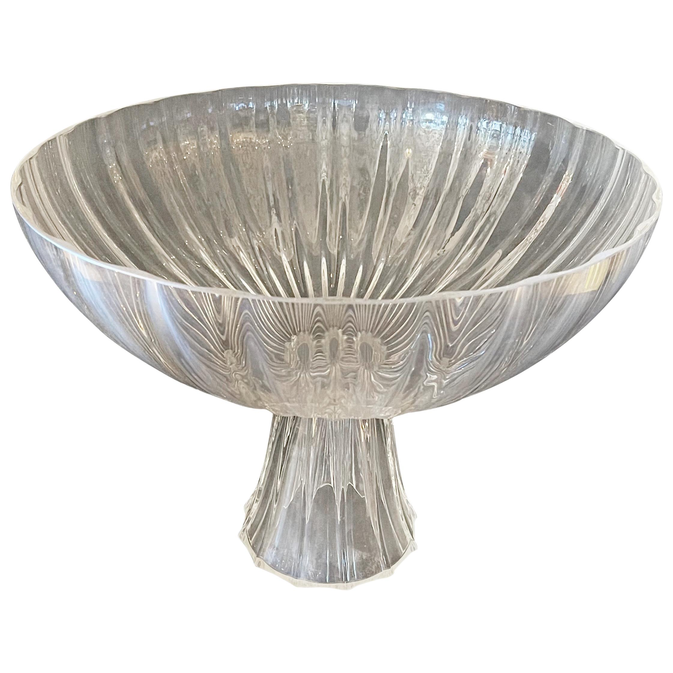 Wonderful Lorin Marsh Rigadin Bowl Clear Murano Glass Centerpiece Large Bowl