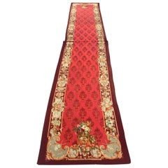 Wonderful Luxurious Antique Napoleon the Third Aubusson Tapestry Runner Rug