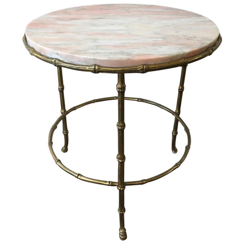 Wonderful Maison Baguès Bamboo Style Side Table