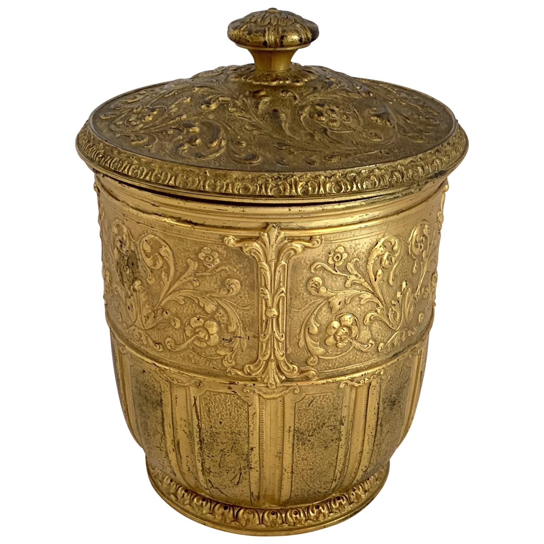 Wonderful Marshall Field & Company Bronze Lidded Champagne Ice Bucket Cooler