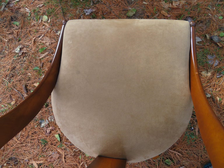 Wonderful Michael Taylor for Baker Spoon Back Neoclassical Chair, Midcentury For Sale 5