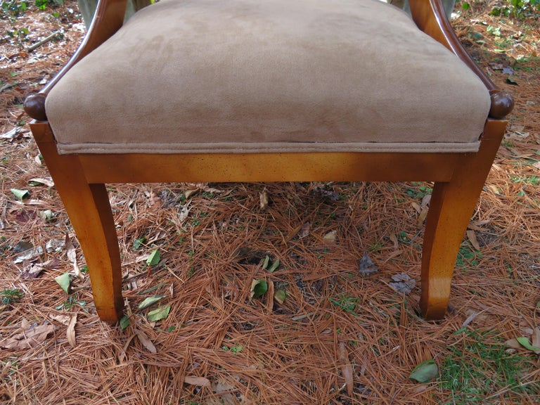 Mid-20th Century Wonderful Michael Taylor for Baker Spoon Back Neoclassical Chair, Midcentury For Sale