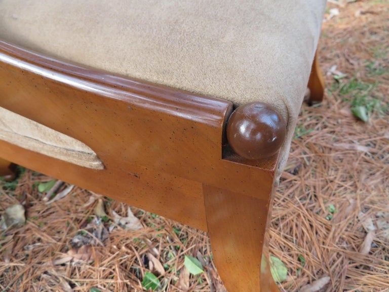 Upholstery Wonderful Michael Taylor for Baker Spoon Back Neoclassical Chair, Midcentury For Sale