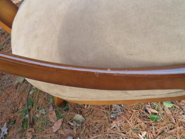 Wonderful Michael Taylor for Baker Spoon Back Neoclassical Chair, Midcentury For Sale 1