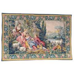 Wonderful Mid century Aubusson Style Jaquar Tapestry