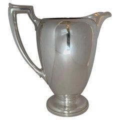 Wonderful Mid-Century Modern Art Deco Cartier Sterling Silver Water Pitcher