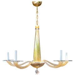 Wonderful Mid-Century Modern Donghia Stellare Italian Gold Dust Glass Chandelier